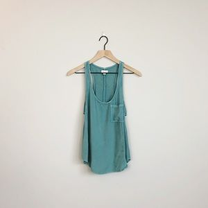 Urban Outfitters | Silence + Noise blue green tank